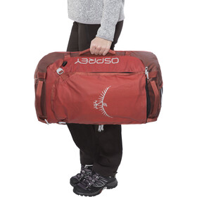 Osprey Transporter 40 Duffel Bag, ruffian red